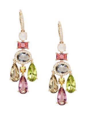 Nadri Boca Crystal Chandelier Earrings