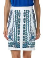 Laundry By Shelli Segal Patterned Pencil Skirt