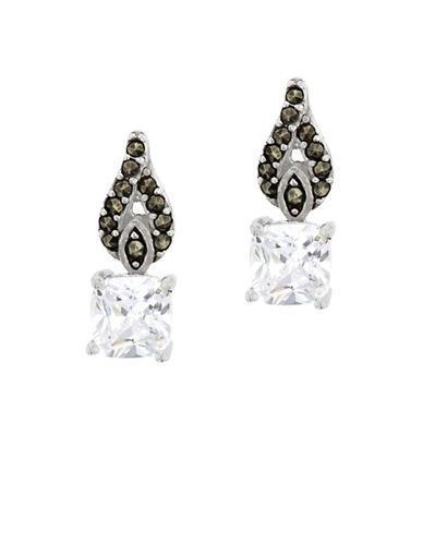 Lord & Taylor Marcasite Sterling Silver Teardrop Earrings