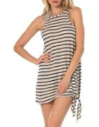 Becca Swim Sleeveless Striped Dress