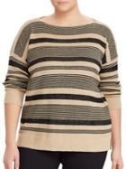 Lauren Ralph Lauren Striped Linen-cotton Pullover