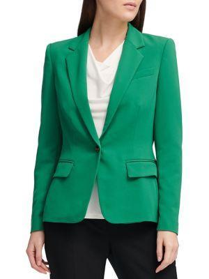Donna Karan Classic One-button Blazer