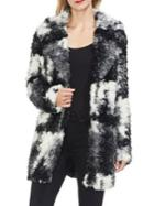 Two By Vince Camuto Gilded Rose Colorblock Faux Fur Jacket