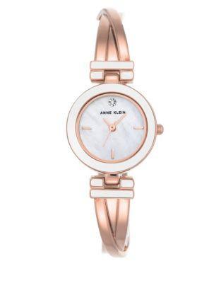 Anne Klein Rose Goldtone Stainless Steel Bracelet Watch