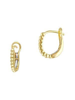Sonatina 14k Yellow Gold Beaded Hoop Earrings