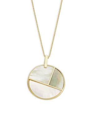 Lord & Taylor Mosaic Pendant Necklace