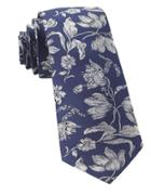 The Tie Bar Floral-print Woven Silk Tie