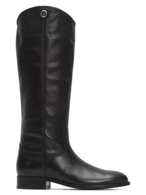 Frye Melissa Leather Riding Boots - Wide Calf