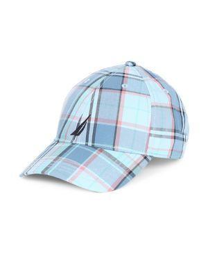 Nautica Plaid Cotton Baseball Cap