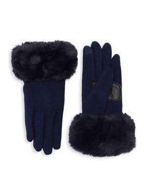Echo Faux-fur Cuff Gloves