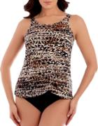 Miraclesuit Abstract-print Roundneck Tankini