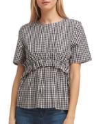 Walter Baker Chelsea Checkered Cotton Top