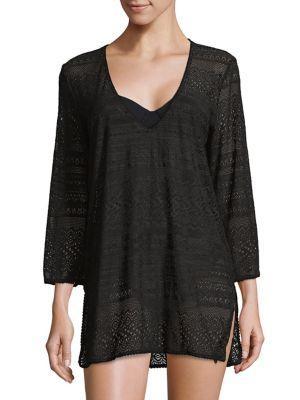 Kate Spade New York Lace V-neck Coverup Tunic