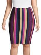 Rachel Rachel Roy Plus Veda Multi-color Striped Skirt