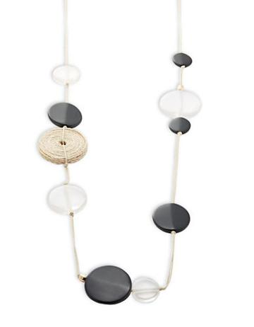 R.j. Graziano Disc Beaded Scatter Necklace