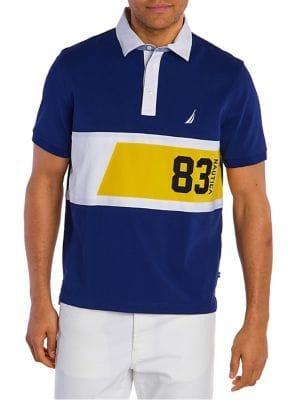 Nautica Classic-fit Tropical N Logo Shipman Cotton Polo