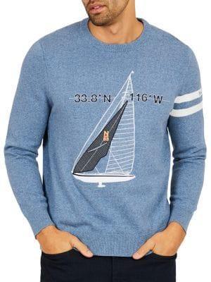 Nautica Sailboat Sweater