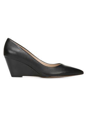 Franco Sarto Alicia Leather Pointed-toe Wedges
