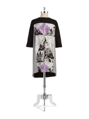 Dknyc Plus Faux-suede Sheath Dress