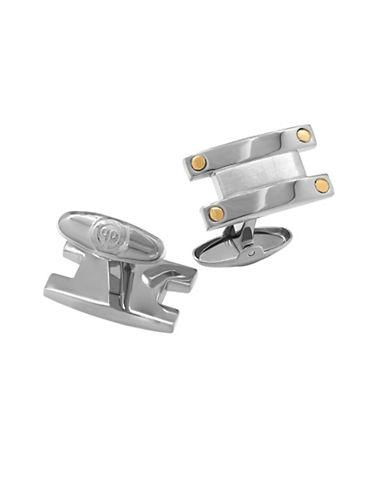 Dolan Bullock Stainless Steel And 18k Yellow Gold Cufflinks