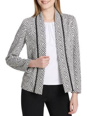 Calvin Klein Novelty Open-front Jacket