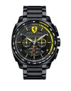Ferrari Mens Scuderia Aero Evo Black Steel Bracelet Watch