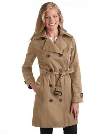 Michael Kors Michael Kors Petite Double Breasted Trench Coat