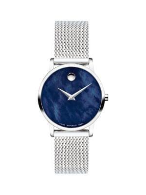 Movado Museum Stainless Steel Mesh Bracelet Watch