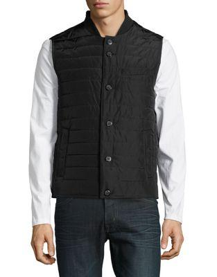 Black Brown Sleeveless Puffer Vest