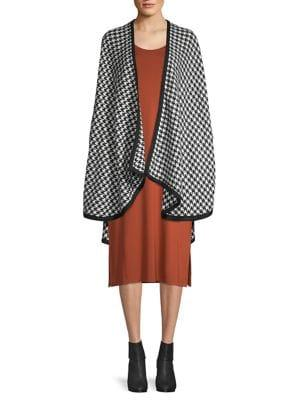 Lord & Taylor Houndstooth Ruana