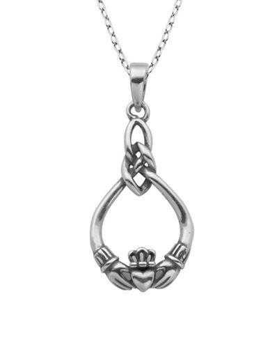 Lord & Taylor Claddagh Celtic Knot Pendant Necklace