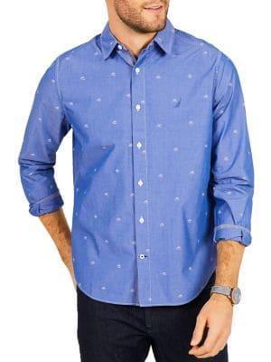 Nautica Classic-fit Sailboat Print Shirt