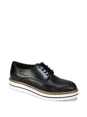 Summit By White Mountain Bria Leather Perforated Lace Up Oxford