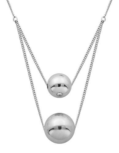 Lord & Taylor High Polished Layered Ball Necklace