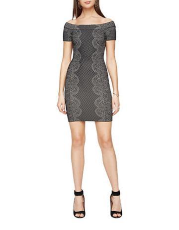 Bcbgmaxazria Kisha Off-the-shoulder Dress