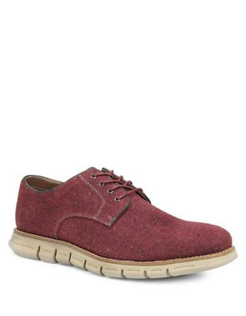 Gbx Hart Plain Toe 4-eyelet Wool Tweed Oxfords