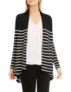 Vince Camuto Petite Striped Panel Cardigan