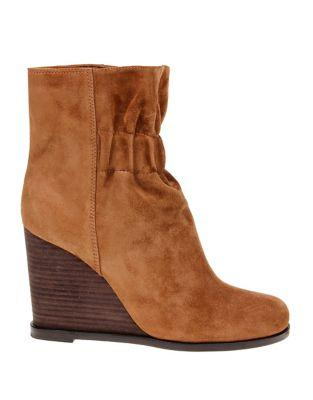 Splendid Rebecca Suede Wedge Booties