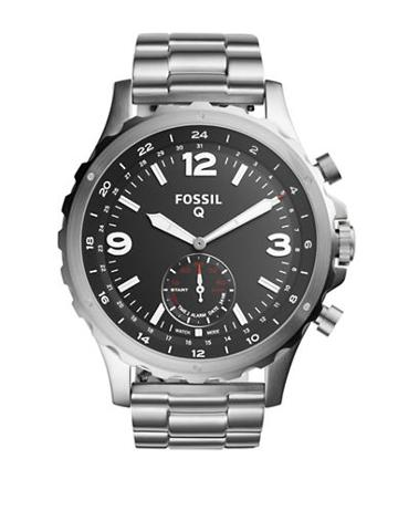 Fossil Q Nate Hybrid Stainless Steel Bracelet Sportwatch