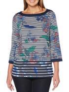 Rafaella Floral Striped Tunic