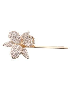 Nina Chana Crystal Orchid Flower Bobby Pin
