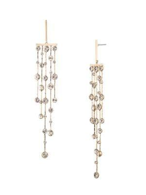 Givenchy Goldtone & Crystal Chandelier Drop Earrings