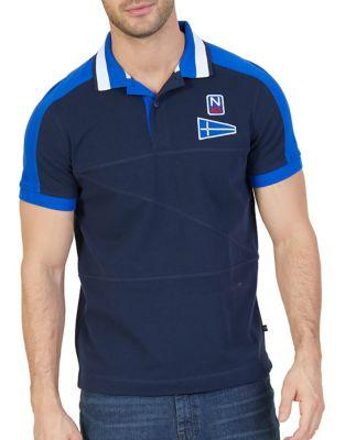 Nautica Slim-fit Color Block Cotton Polo