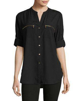 Calvin Klein Rolled-up Sleeves Blouse