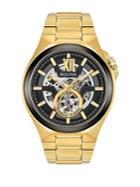 Bulova Round Yellow Goldtone Stainless Steel Bracelet Watch