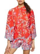 Miss Selfridge Printed Kimono Playsuit