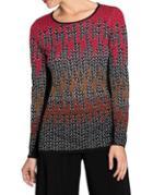 Nic+zoe Plus Chevron Roundneck Sweater