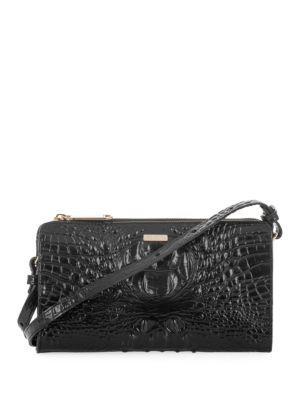 Brahmin Sienne Crocodile-embossed Leather Crossbody Bag