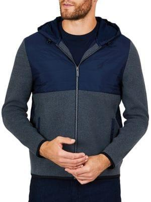 Nautica Classic Fit Mixed-media Hoodie