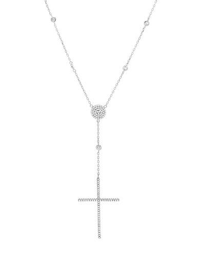 Lord & Taylor Cubic Zirconia Cross Pendant Necklace